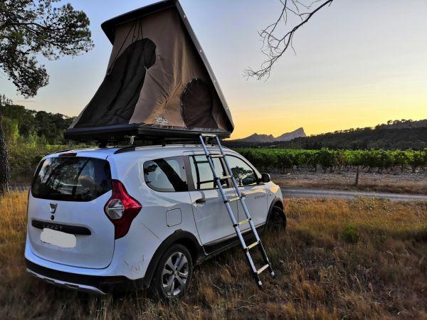 location de tente de toit pour escapade nature